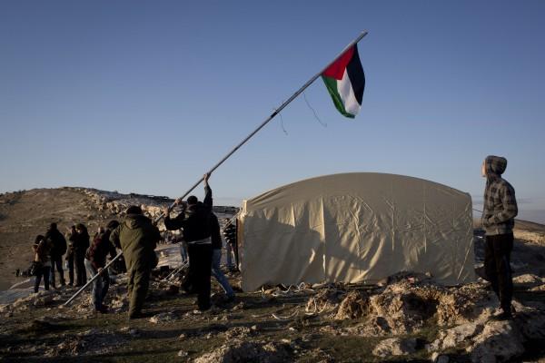 Bab al-Shams, camp palestinien, Cisjordanie, 11/01/2013