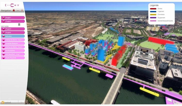 Simulation d'un concours urbanisme virtuel, La ville de Clichy la Garenne