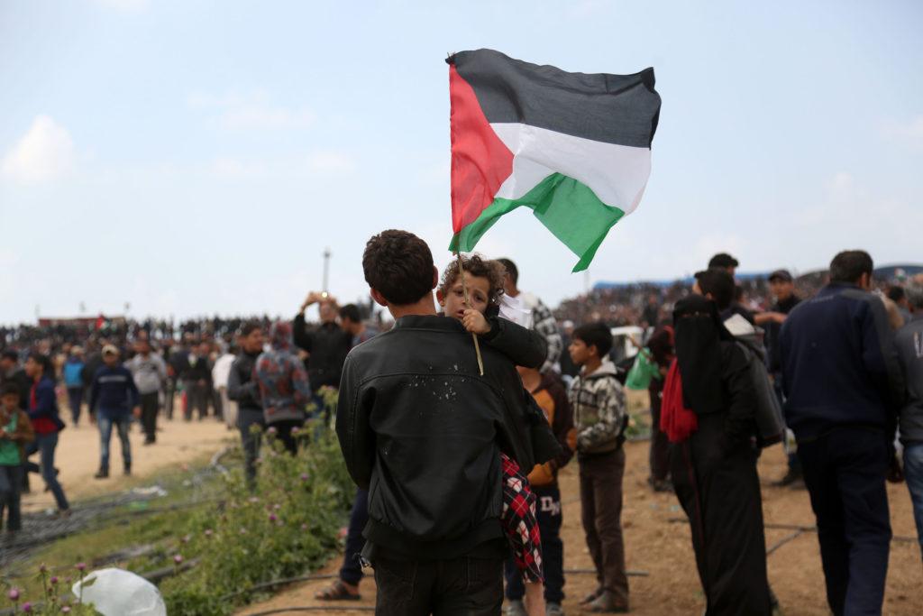Grande marche du Retour, Bande de Gaza • 30 mars 2018 • Mohammed Zaanoun / Activestills.org