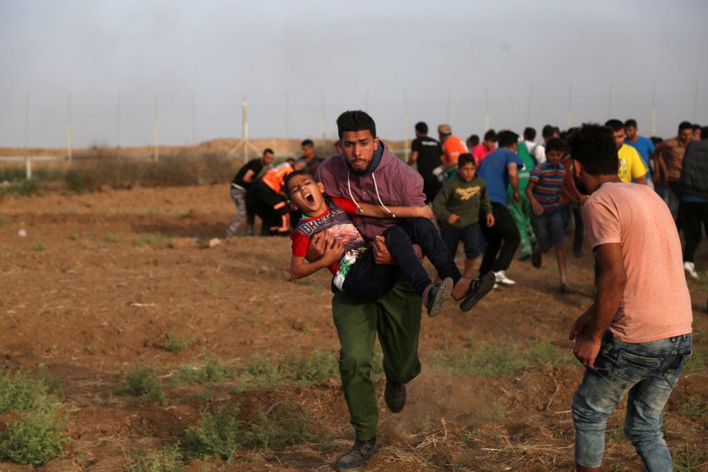 Grande marche du Retour, Bande de Gaza • 25 mai 2018 • Mohammed Zaanoun / Activestills.org