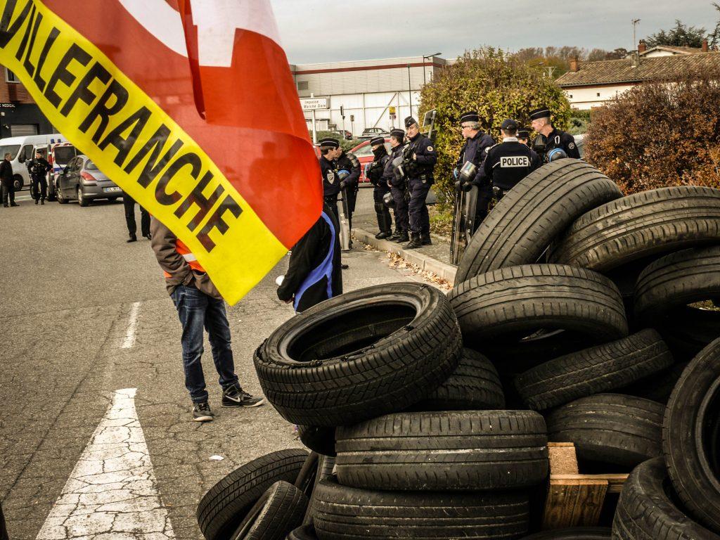 Action interprofessionnelle de blocage de Martin-Brower en soutien aux McDos – 28 novembre 2017